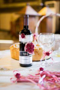 Dekorowana butela na wino